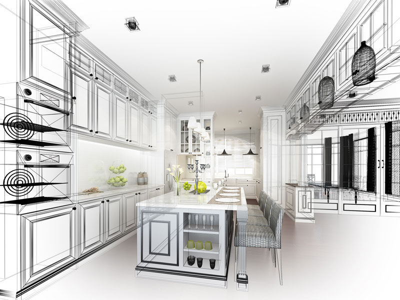 3D kitchen and bath design is offered in our showroom.