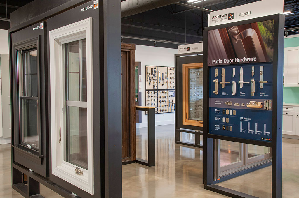 Showroom Tour – Andersen window displays